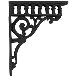 Victorian Aqueduct Antique Replica Cast Iron Shelf Bracket Roman Column