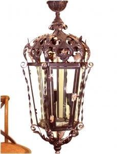 Gothic Greek Revival Hanging Pendant Light Fixture Chandelier Old Antique Style