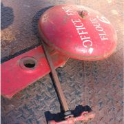 Cast Iron Factory Wall Fire Bell with Clanger Antique 39lb Vintage