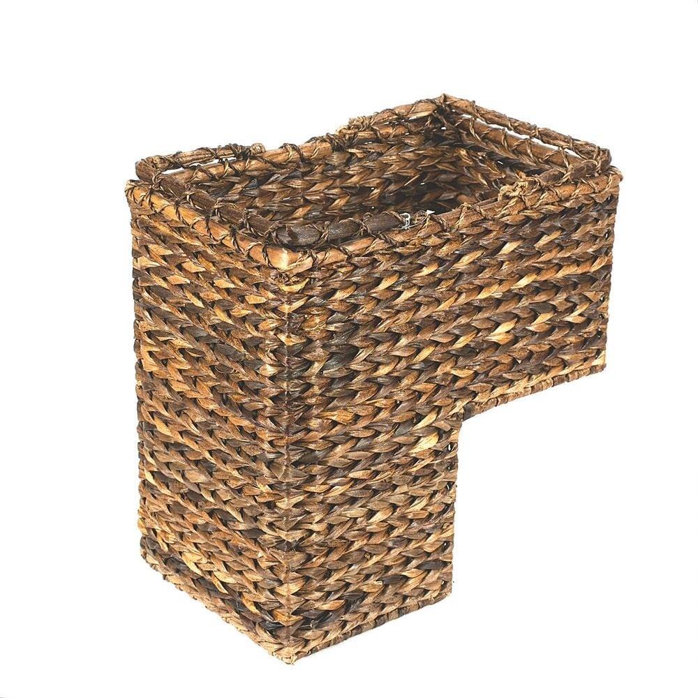 Braided Rope Leaf Stair Step Basket Great Craftsmanship Handy Stairway  Storage