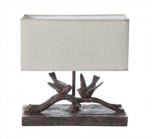 Pair of Birds End or Side Table Lamp with Shade Included Lovely