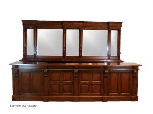 12′ Victorian Mahogany Mirrors Back and Front Bar Home Pub
