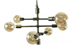 Modern Contemporary High Design Multi Arm Pendant Light Chandelier in Antique Brass Fnsh