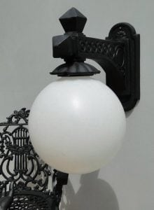 Victorian Street Wall Light Fixture Wired Vintage Sconce Antique Old Style