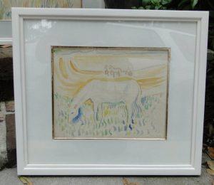 Jack Paul HANLON (1913-1968) Watercolor Painting of Horse Grazing & Landscape, RARE