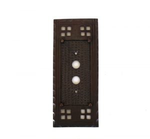 Arts and Crafts Mission or Bungalow Style Single Push Button Switch Plate