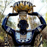 8 Ft Tall Huge Egyptian Male Planter Statue Sculpture Movie Prop – The Kings Bay