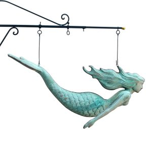 Copper Mermaid Trade SIGN Nautical STUNNING Large Size Ocean Decor
