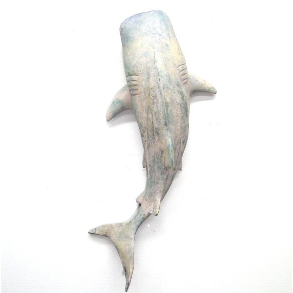 Nautical Wall Mounted Whale SHARK Home Decor Beach House 19″