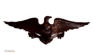 Spread Winged American Eagle with Shield Ribbon Classic USA Dark Bronze
