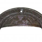 Oval Victorian Cast Iron Bin Pull w Decorative Surface Antique Reproduction Hardware