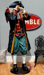 6′ Life Size Pirate Caribbean Statue Captain w Telescope Paruche – The Kings Bay