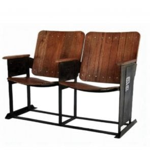 Vintage Movie Theater Seats for Home Man Cave Old Replica Furniture