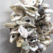 Oyster Shell Wreath or Centerpiece Nautical Beach Theme Wall Mount