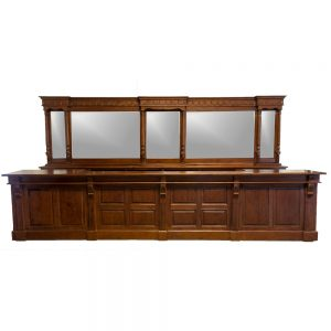 16′ Victorian Mahogany Mirrors Back and Front Home Bar Tavern Furniture