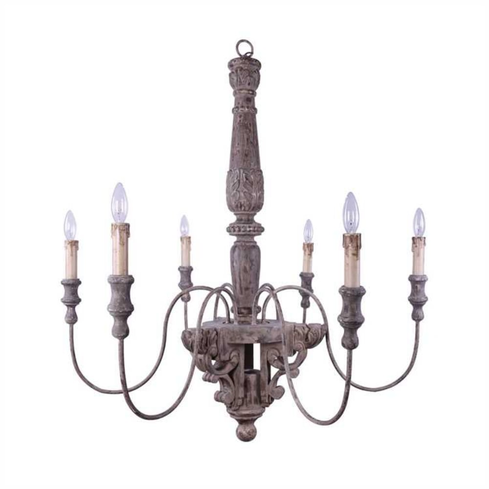 Aged old fashioned wood and metal chandelier light fixture w 6 arms aged old fashioned wood and metal chandelier light fixture w 6 arms big arubaitofo Gallery
