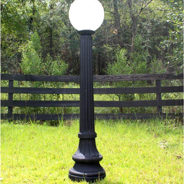 Indoor Outdoor Walkway Post Light Fixture Antique Cast Iron Style Replica
