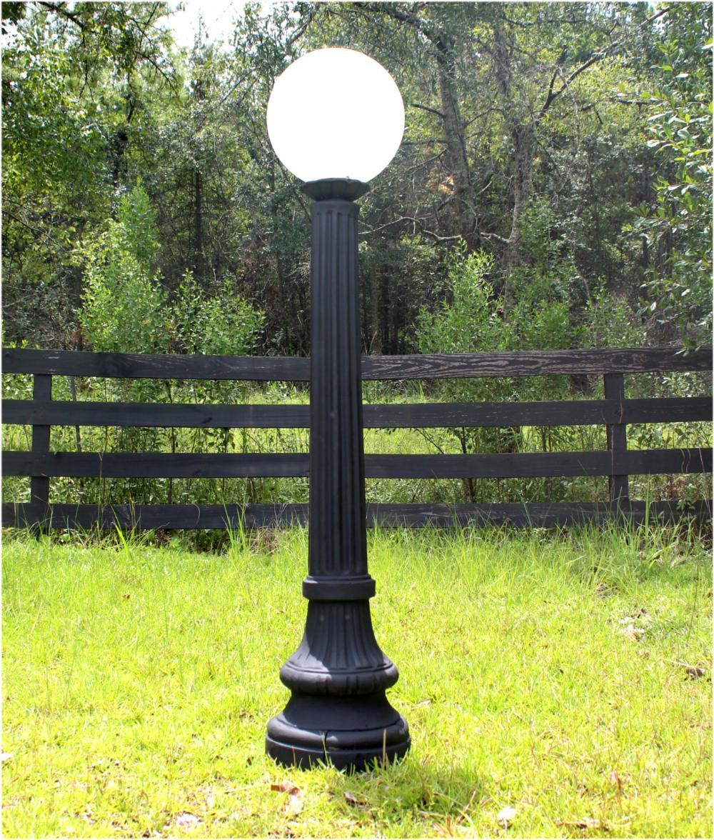 Indoor Outdoor Walkway Post Light Fixture Antique Cast