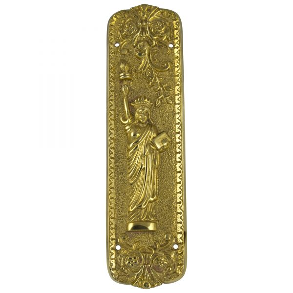 Statue of Liberty Push Door Plate Hardware Vintage Restoration Replica