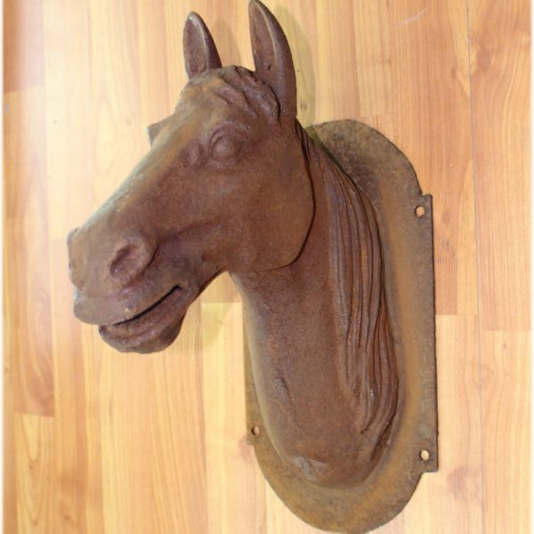 Cast Iron Horse Head Trade Sign Antique Style Heavy Medium French Europe
