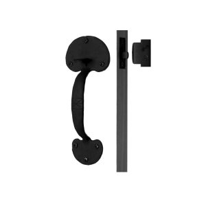 Bean Shape Double Handle Wrought Iron Drop Latch Set – Use With Pre Drilled Door