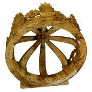 Giant Architectural Wooden Gold Leaf Crown Teester, Antique, Big, Huge, Large
