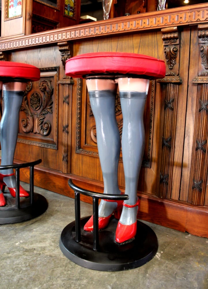 Phenomenal Girls Legs Bar Stools High Heels In Stockings Red Vinyl Seat Metal Pair Gmtry Best Dining Table And Chair Ideas Images Gmtryco
