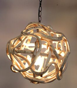 Liana Orb Ball Chandelier Hand Made In USA Luxe Style Pendant Light Fixture