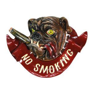No Smoking Bull Dog Bulldog Store Restaurant Bar Sign With Cigar in Mouth