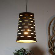 Antique Replica Olive Pendant Light – Round Vented Can Galvanized Tin Metal