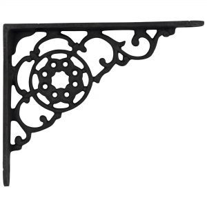 Victorian Cast Iron Shelf Bracket Antique Vintage Replica Black Paint