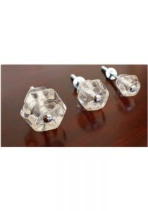 1″ CLEAR Glass Cabinet Knobs Pulls Vintage Dresser Drawer Hardware 10 pcs