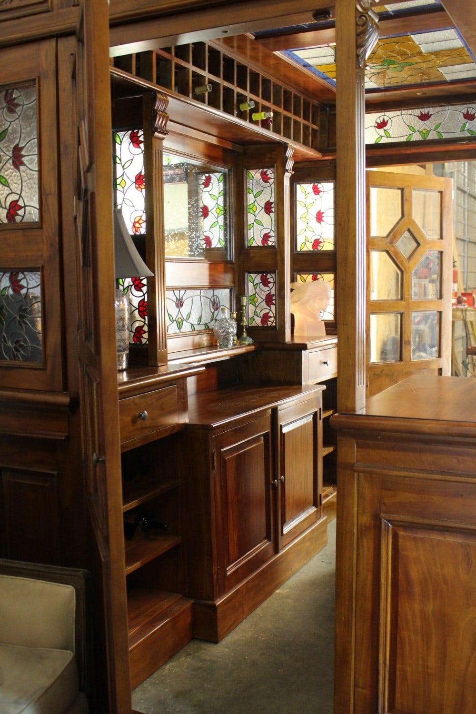 Lion Crest Tiffany Glass Canopy Home Bar Pub Antique Replica Tavern ...