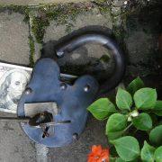Medium Large Treasure Chest LOCK Iron Working w Keys BIG 6″ Padlock Antique Style