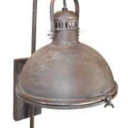 Aged Bronze Brown Painted Wall Bedside Light Fixture, Industrial Dock Light style