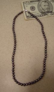 Real BLACK PEARL Necklace BLOW OUT 15″ 7mm Jewelry GIFT SALE Pearls