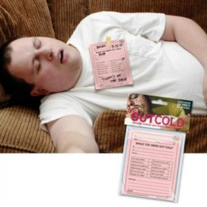 Out Cold Party Note Pad for Heavy Drinking and Drunken Friends OMG