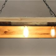 Country Farm Pine Kitchen Counter Top Ceiling Chandelier Light Fixture