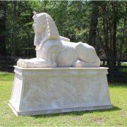 Ancient Big Sphinx Sculpture Statue with Hieroglyphics Cobra King Egyptian Huge