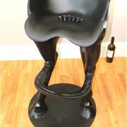 Heavy Non Rust Metal Funny Horse Tail Bar Stool w Foot Rest, Western w Big Seat ( Sold as Pair )