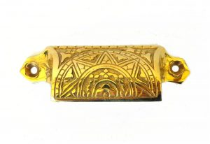 Solid Brass Bin Pull Antique Hardware Replica Victorian Vintage Style