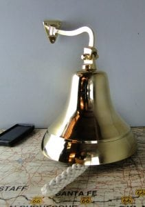 Huge Nautical Solid Brass Wall Mounted Bell Man Cave Tavern Kitchen Bar