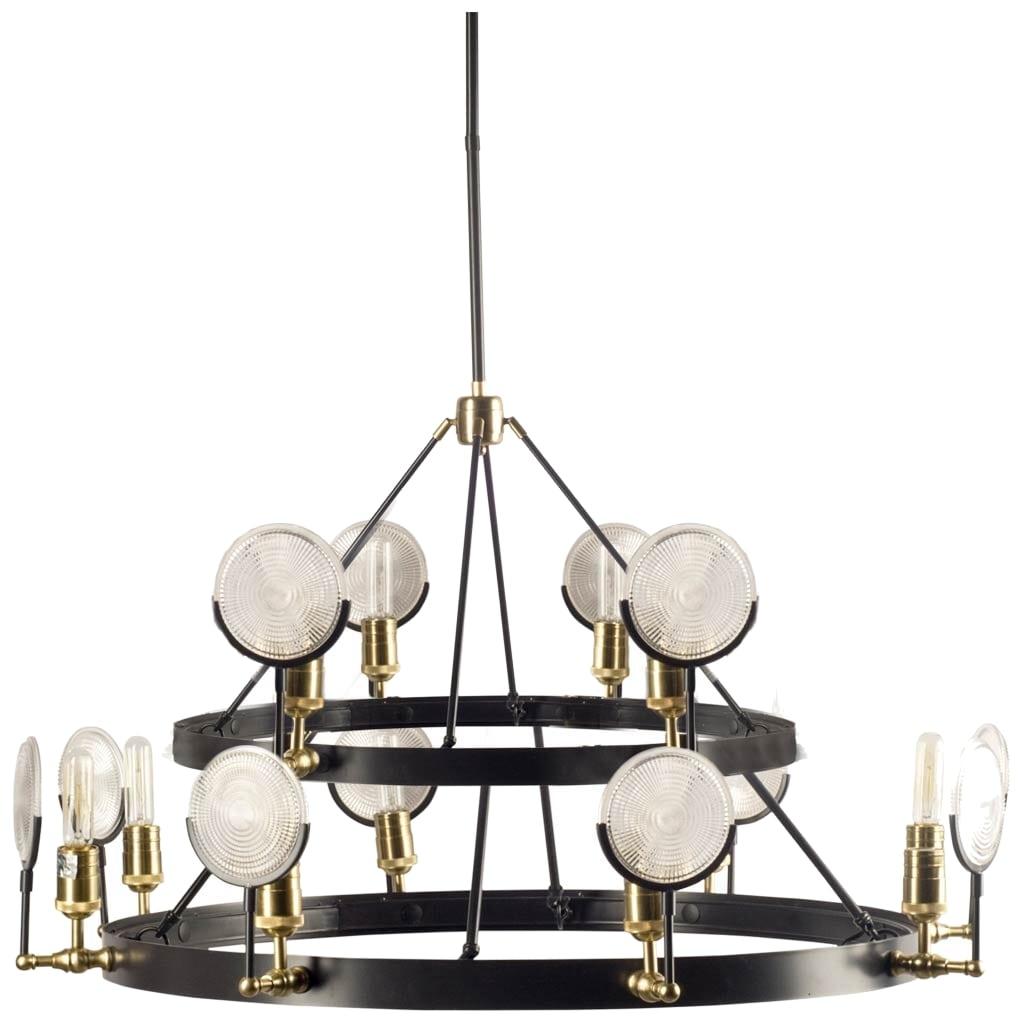 Emporium two tier gas light chandelier w light house magnifying emporium two tier gas light chandelier w light house magnifying round ribbed glass aloadofball Choice Image