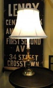 Solid Brass Vintage Candlestick Holder LIGHT FIXTURE end table lamp OLD