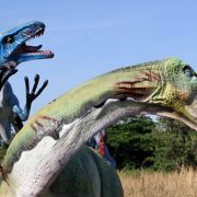 Tentosaurus under Attack Big Dinosaur Huge Terra Nova Style Statue Sculpture