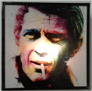 Steve McQueen Aged Metal Frame Artistic Light Up Sign King Of Cool Art