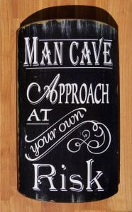 Curved MAN CAVE Sign, Retro Vintage Antique Old Style, Victorian Replica