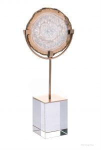 Agate On Acrylic Base Decor Modern Contemporary Semi Precious Stone