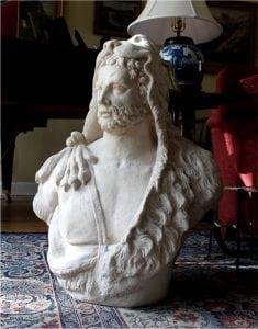 Hercules Bust Sculpture Statue with Lion Headdress Huge Michelangelo