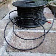 Finally Thick Round Black Rayon Pendant Wire Electric Parts Cord